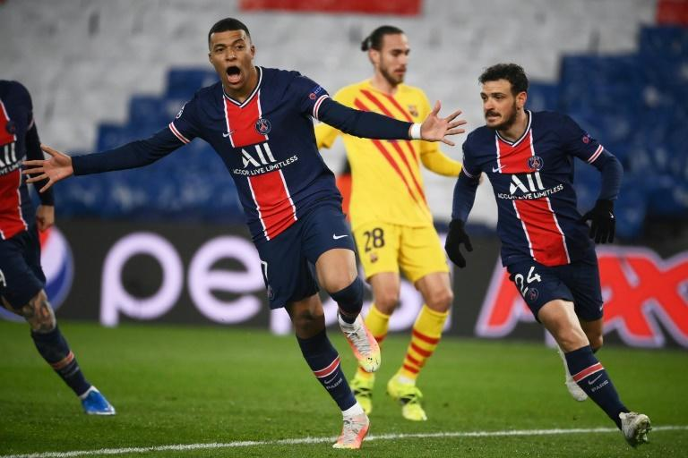 Kylian Mbappe followed up his first-leg hat-trick by scoring a spot-kick for PSG