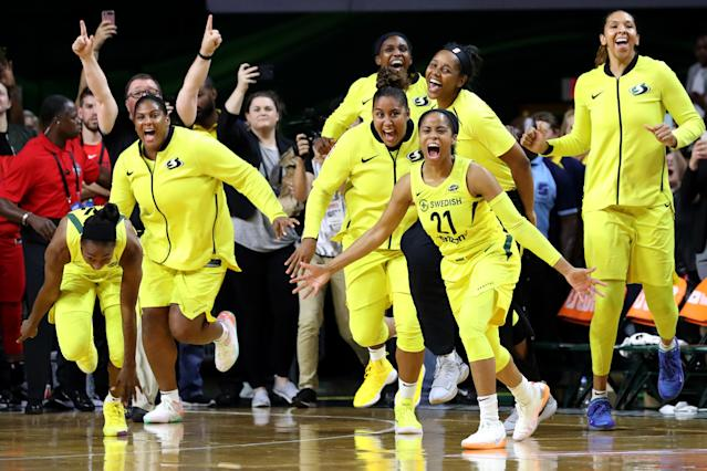 "The WNBA launched ""Her Time To Play,"" a campaign designed to help inspire young girls and keep them involved in sports for longer. (Getty Images)"