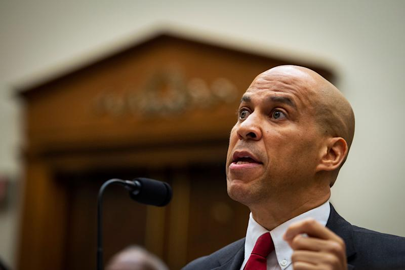 "Sen. Cory Booker unveiled a plan Thursday that would grant clemency and early release to thousands of federal drug offenders ""serving unjust and excessive sentences."" (Photo: Congressional Quarterly via Getty Images)"