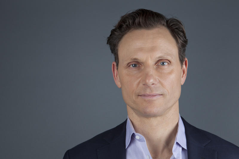 """This Jan. 30, 2013 photo shows actor Tony Goldwyn from the ABC television series """"Scandal"""" in New York. Goldwyn portrays President Fitzgerald Grant, who is having an affair with his former communications director, Olivia Pope, portrayed by Kerry Washington. (Photo by Amy Sussman/Invision/AP)"""