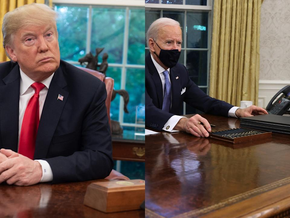 <p>Biden removes Trump's Diet Coke button from the White House</p> (Getty Images)