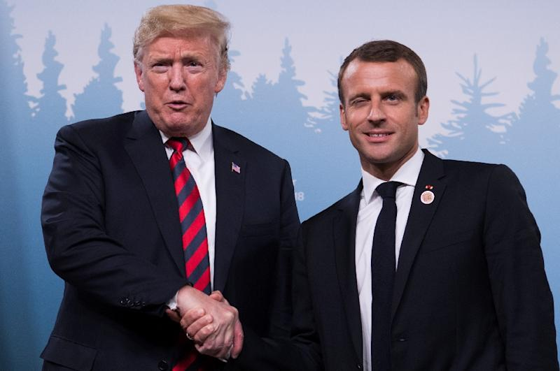 French President Emmanuel Macron had faced criticism at home for getting too close to Donald Trump (AFP Photo/SAUL LOEB)
