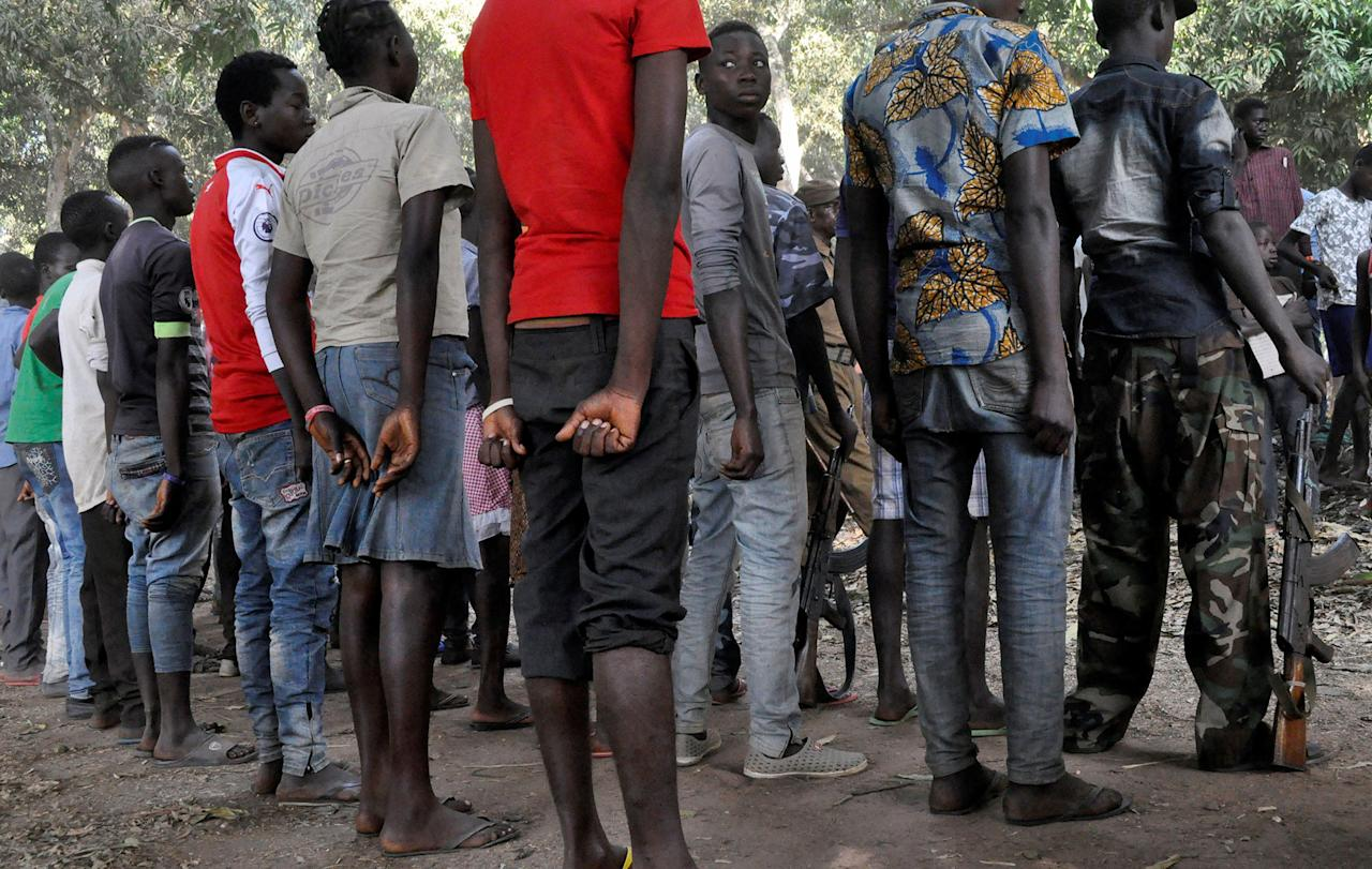 <p>South Sudanese children released by armed groups attend a ceremony in the western town of Yambio, South Sudan on Feb. 7, 2018. (Photo: Denis Dumo/Reuters) </p>