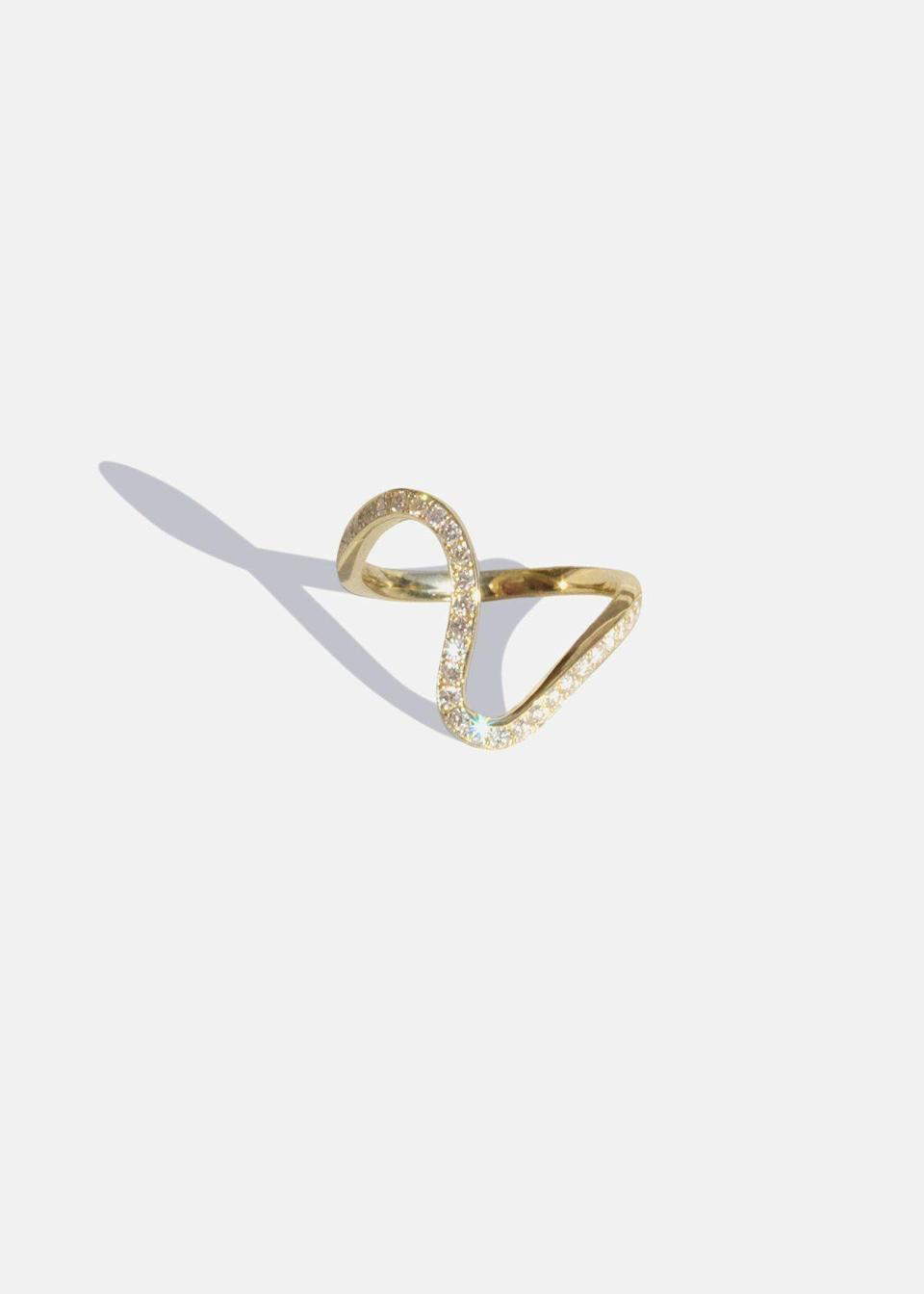 """<p><strong>Kat Kim </strong></p><p>katkimfinejewelry.com</p><p><strong>$4200.00</strong></p><p><a href=""""https://katkimfinejewelry.com/collections/rings/products/trace_ring"""" rel=""""nofollow noopener"""" target=""""_blank"""" data-ylk=""""slk:Shop Now"""" class=""""link rapid-noclick-resp"""">Shop Now</a></p><p>KATKIM is a blend of design, quality and sustainability that is fused in every piece. Sustainability is a crucial guideline for the design and development of KATKIM pieces, which are created with respect for the communities and environment that surrounds us. All of their diamonds are conflict free and they use recycled gold whenever possible. KATKIM donates monthly to Ethical Metalsmiths and annually a portion of proceeds to Ocean Conservancy. </p>"""