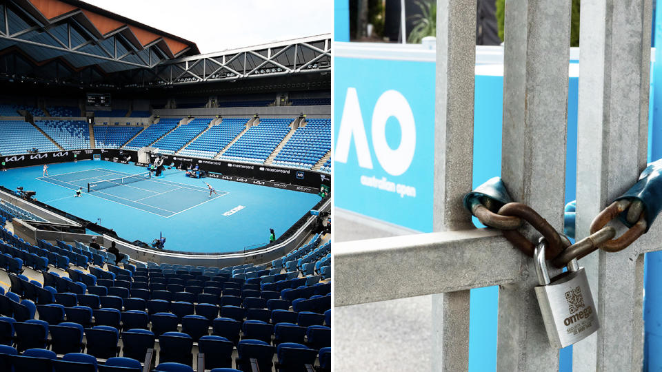 Melbourne Park, pictured here on day six of the Australian Open.