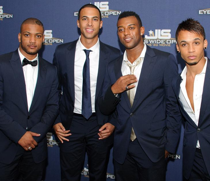JLS photos: Wow, don't the boys scrub up well!