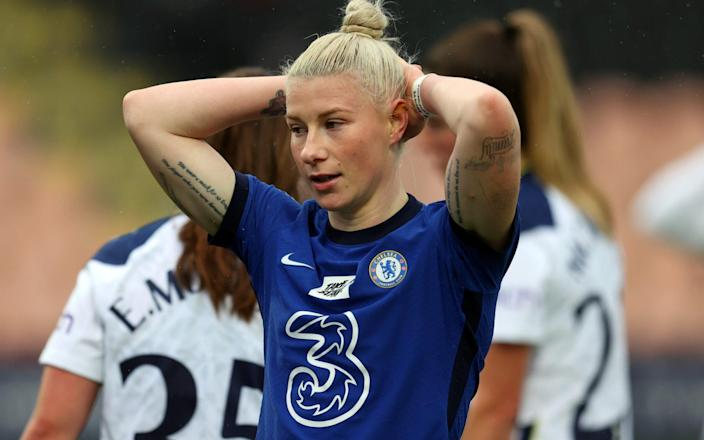 Bethany England of Chelsea reacts - GETTY IMAGES