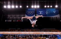 """<p>""""Mentally it's helped me because I had to take that little break from gymnastics, which is obviously hard, but it was something that needed to be done,"""" she said. """"Right now, mentally it's helped because it makes me want this even more.""""</p>"""