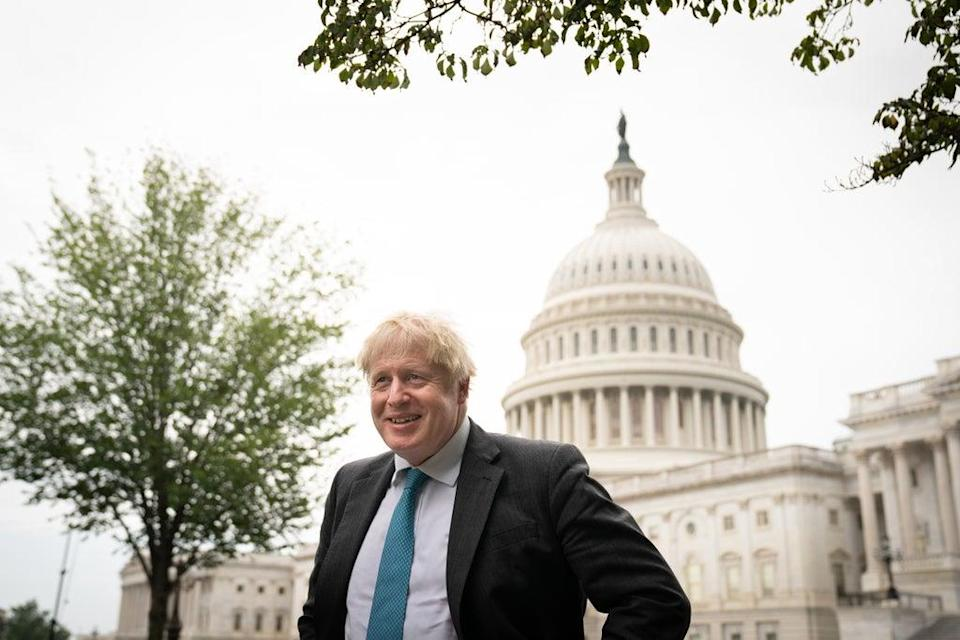 Prime Minister Boris Johnson made the announcement from Washington DC (Stefan Rousseau/PA) (PA Wire)