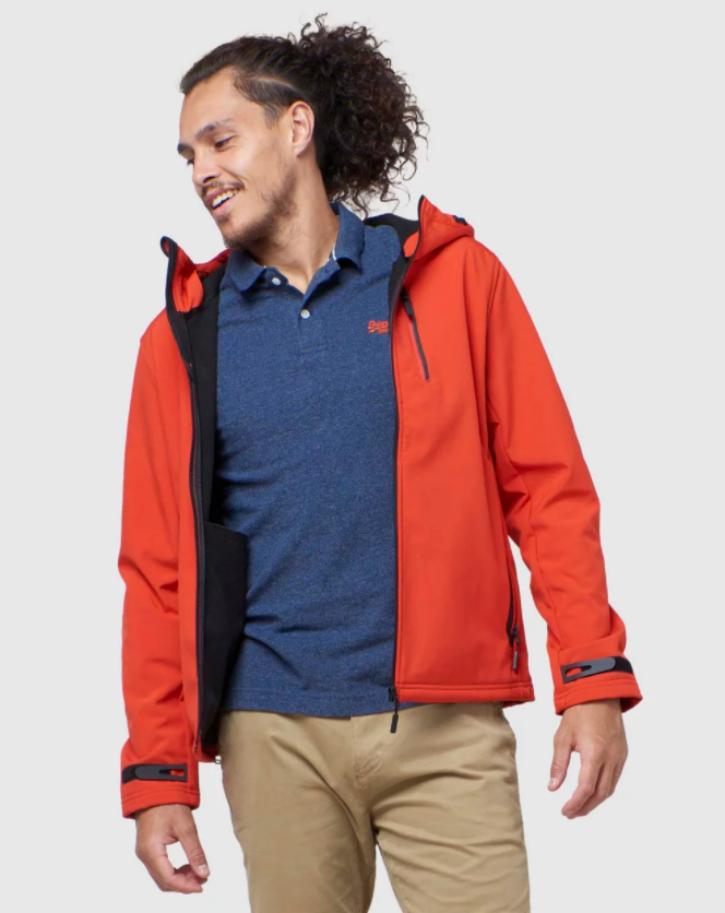 Superdry Hooded Softshell Jacket, $189.95 from The Iconic. Photo: The Iconic.