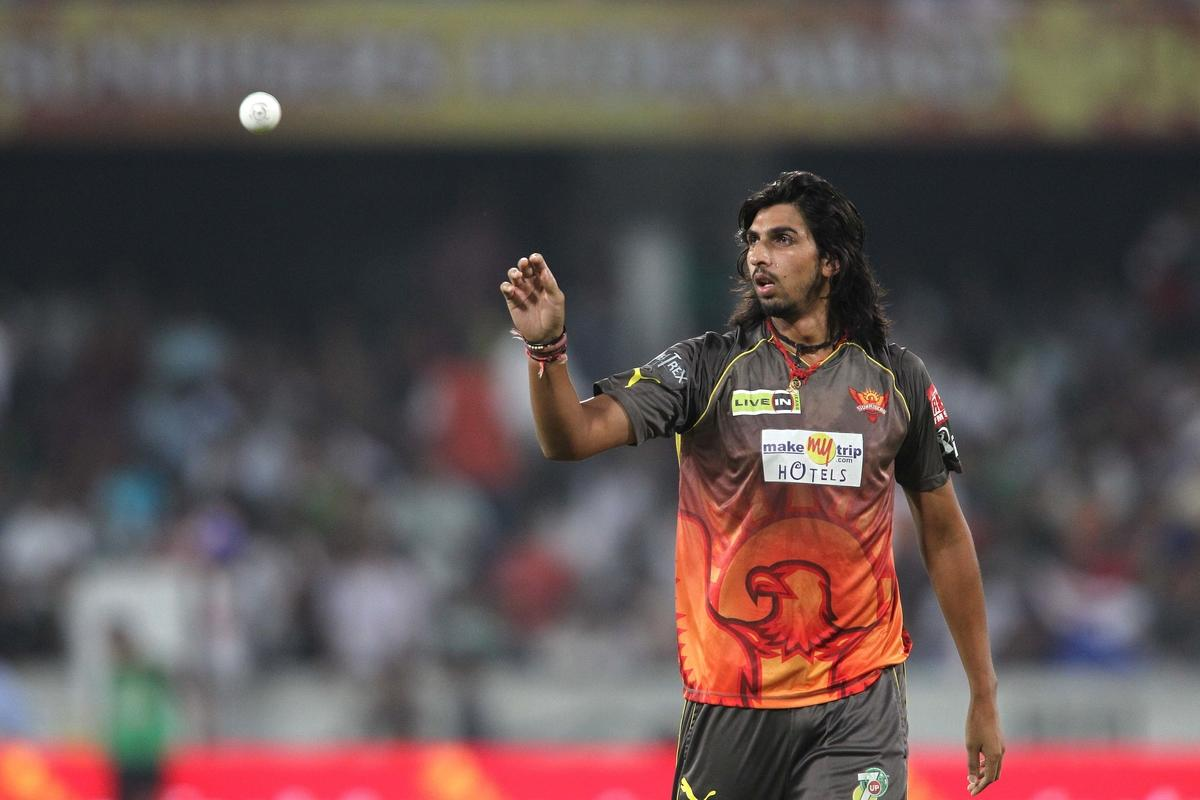 Ishant Sharma of Sunrisers Hyderabad during match 68 of the Pepsi Indian Premier League between The Sunrisers Hyderabad and The Rajasthan Royals held at the Rajiv Gandhi International Stadium, Hyderabad  on the 17th May 2013..Photo by Shaun Roy-IPL-SPORTZPICS ..Use of this image is subject to the terms and conditions as outlined by the BCCI. These terms can be found by following this link:..https://ec.yimg.com/ec?url=http%3a%2f%2fwww.sportzpics.co.za%2fimage%2fI0000SoRagM2cIEc&t=1503202663&sig=VpQaD7ld.qRzgJxqkecVmQ--~D