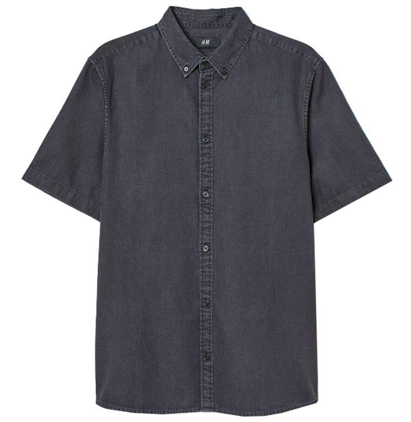 """<p><strong>H&M</strong></p><p>hm.com</p><p><strong>$29.99</strong></p><p><a href=""""https://go.redirectingat.com?id=74968X1596630&url=https%3A%2F%2Fwww2.hm.com%2Fen_us%2Fproductpage.0669385001.html&sref=http%3A%2F%2Fwww.esquire.com%2Fstyle%2Fmens-fashion%2Fg12274960%2Fbest-denim-shirts-men%2F"""" target=""""_blank"""">SHOP</a></p><p>An all-gray Canadian tuxedo makes every wardrobe better. (All you have to do is add the dark gray jeans.)</p>"""