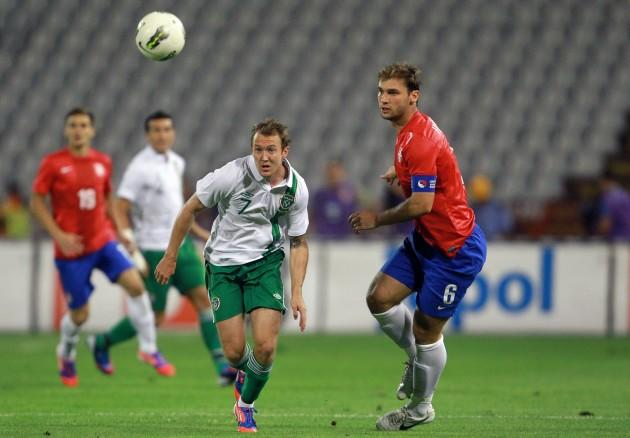 Aiden McGeady and Branislav Ivanovic