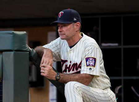Jul 5, 2017; Minneapolis, MN, USA; Minnesota Twins manager Paul Molitor in the fourth inning against the Los Angeles Angels at Target Field. Mandatory Credit: Brad Rempel-USA TODAY Sports