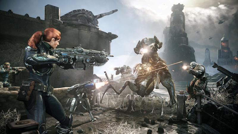 """This undated publicity photo released by Epic Games/Microsoft shows a scene from the video game, """"Gears of War: Judgment."""" (AP Photo/Epic Games/Microsoft)"""