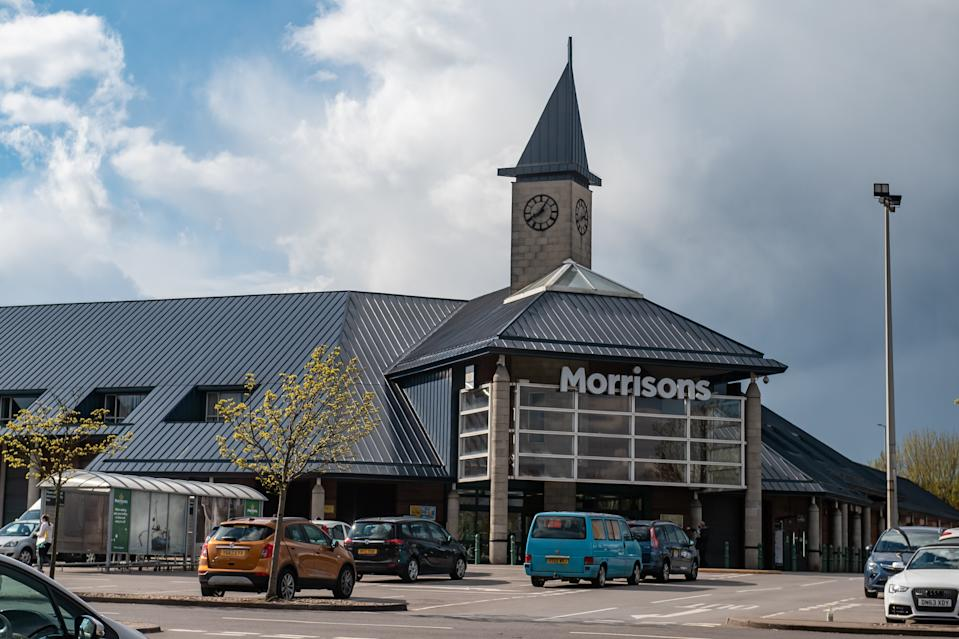 The Morrisons supermarket where the baby was found. (SWNS)