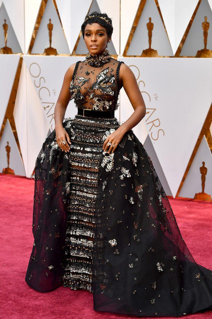 Janelle Monáe Bedazzles Her Black-and-White Game for the Oscars ...