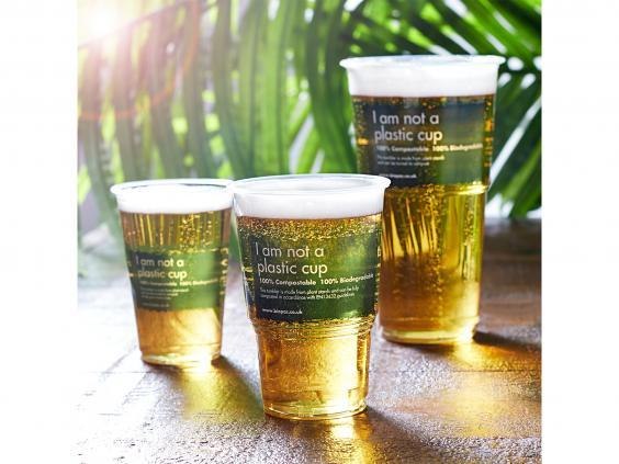 Make your trip to a newly reopened pub an environmentally friendly one with biodegradable pint glasses (DrinkStuff)