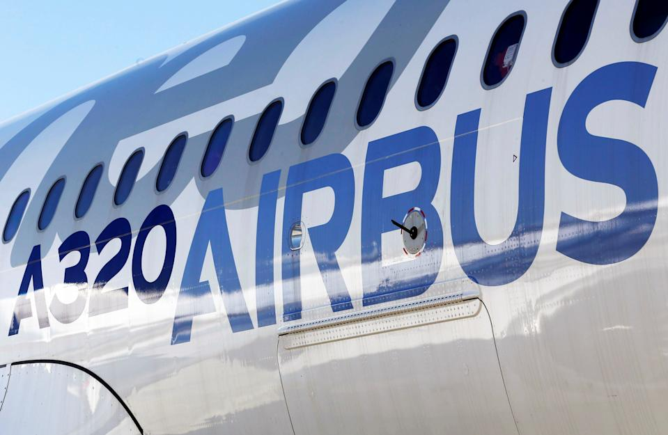 FILE PHOTO: An Airbus A320neo aircraft is pictured during a news conference to announce a partnership between Airbus and Bombardier on the C Series aircraft programme, in Colomiers near Toulouse, France, October 17, 2017.   REUTERS/Regis Duvignau
