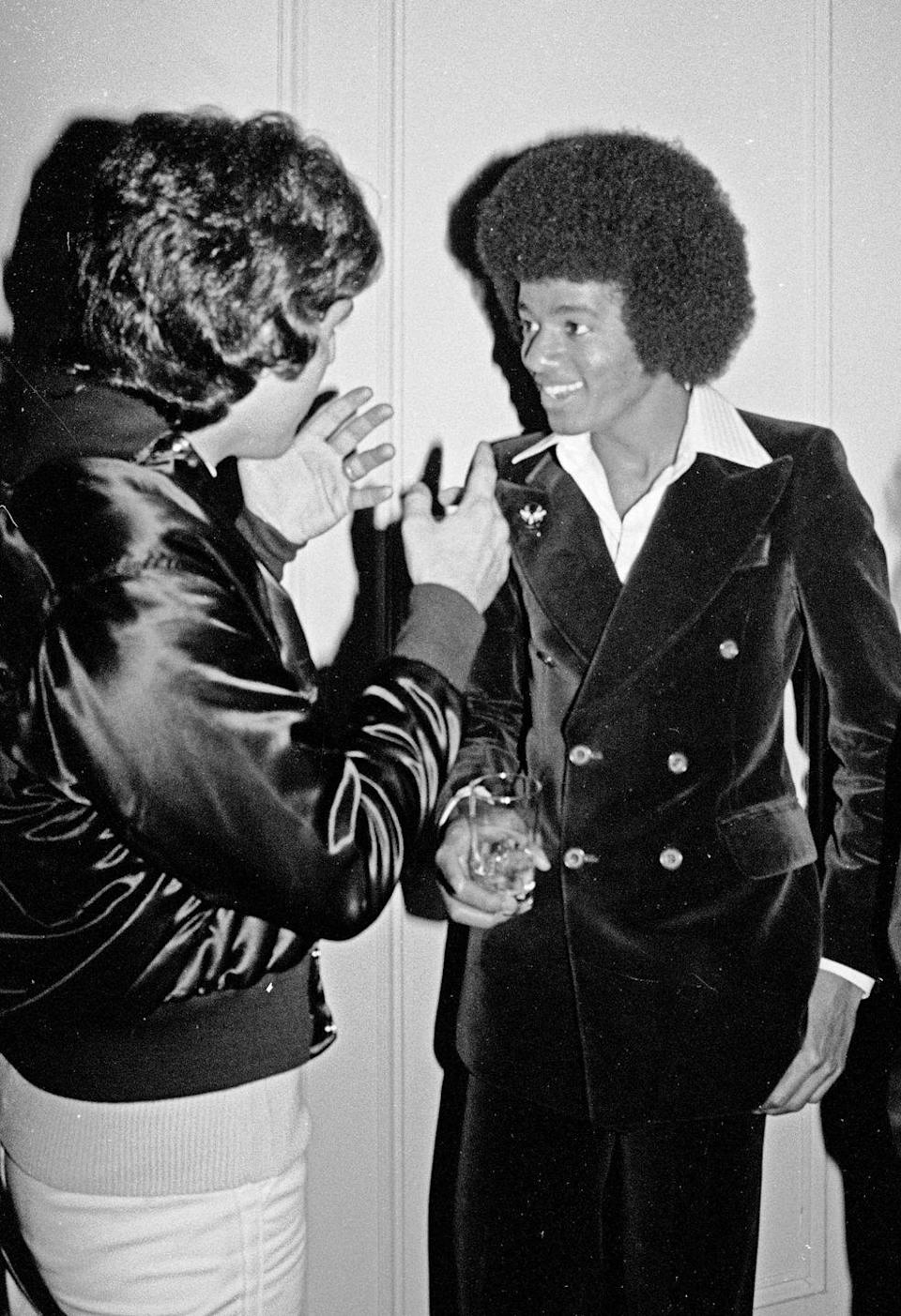 <p>Michael Jackson visits Studio 54 on May 31, 1977 in New York City.</p>