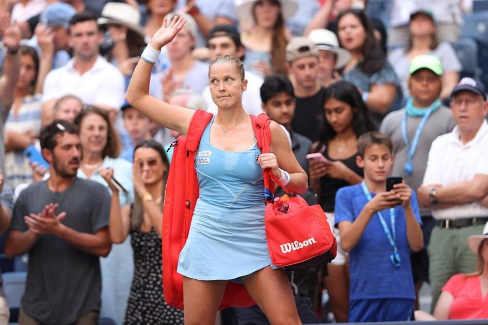 Shelby Rogers departs the Arthur Ashe stadium following her fourth-round defeat at the US Open   (Getty Images)