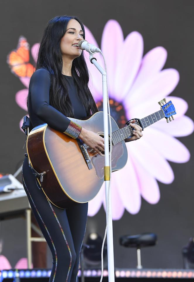 <p>Kacey Musgraves was seen wearing an Adam Selman look with Sophia Webster booties at the 2019 Outside Lands Festival.</p>