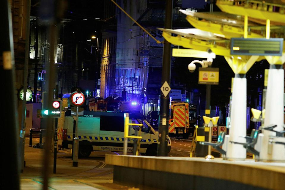<p>A police vehicle is seen outside the Manchester Arena, where U.S. singer Ariana Grande had been performing in Manchester, northern England, Britain May 23, 2017. (Andrew Yates/Reuters) </p>