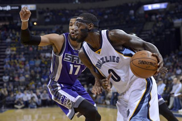 "<a class=""link rapid-noclick-resp"" href=""/nba/players/5262/"" data-ylk=""slk:JaMychal Green"">JaMychal Green</a> has been with the Grizzlies for three seasons. (AP)"