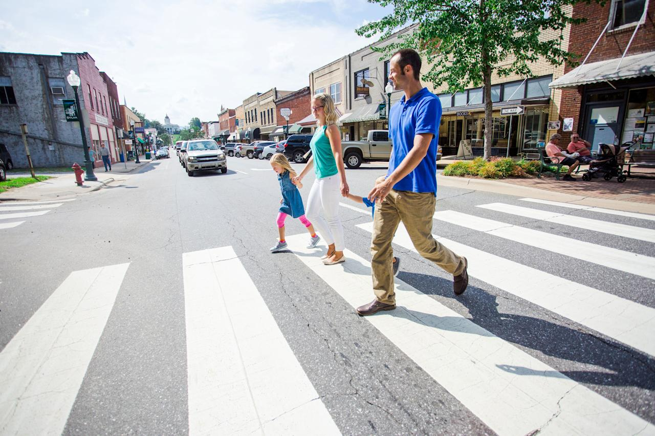 <p>Downtown Sylva is perfect for meandering on foot. The town has been recognized for its efforts to be green and eco-friendly. </p>