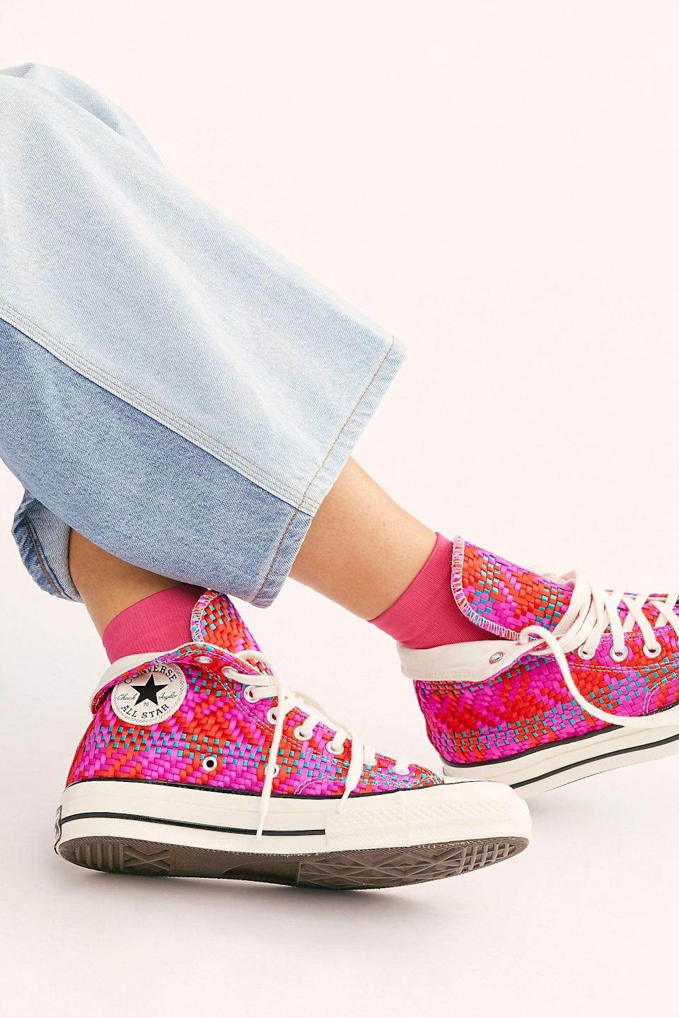 "<p><a href=""https://www.popsugar.com/buy/Chuck-70-Hi-Top-Sneakers-557508?p_name=Chuck%2070%20Hi-Top%20Sneakers&retailer=freepeople.com&pid=557508&price=90&evar1=fab%3Aus&evar9=44311634&evar98=https%3A%2F%2Fwww.popsugar.com%2Ffashion%2Fphoto-gallery%2F44311634%2Fimage%2F47375104%2FChuck-70-Hi-Top-Sneakers&list1=shopping%2Cshoes%2Csneakers%2Choliday%2Cgift%20guide%2Ceditors%20pick%2Cfashion%20gifts%2Cgifts%20for%20women&prop13=api&pdata=1"" class=""link rapid-noclick-resp"" rel=""nofollow noopener"" target=""_blank"" data-ylk=""slk:Chuck 70 Hi-Top Sneakers"">Chuck 70 Hi-Top Sneakers</a> ($90) </p> <p>""The unique spin on these Converse sneakers will make them your most cherished pair for years to come. I can't wait to wear mine with jeans and a tee."" - Macy Cate Williams, editor, Shop and Must Have</p>"