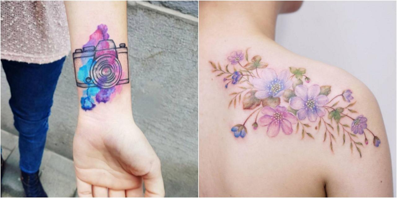 """<p>Some of the most impressive tattoos on the planet are done in this style, a mix of blended colors and blurred lines to create beautiful works of body art. If you're in the market for a <a rel=""""nofollow"""" href=""""http://www.goodhousekeeping.com/beauty/g3747/bad-tattoos/"""">new tattoo</a>, don't miss these designs. </p>"""