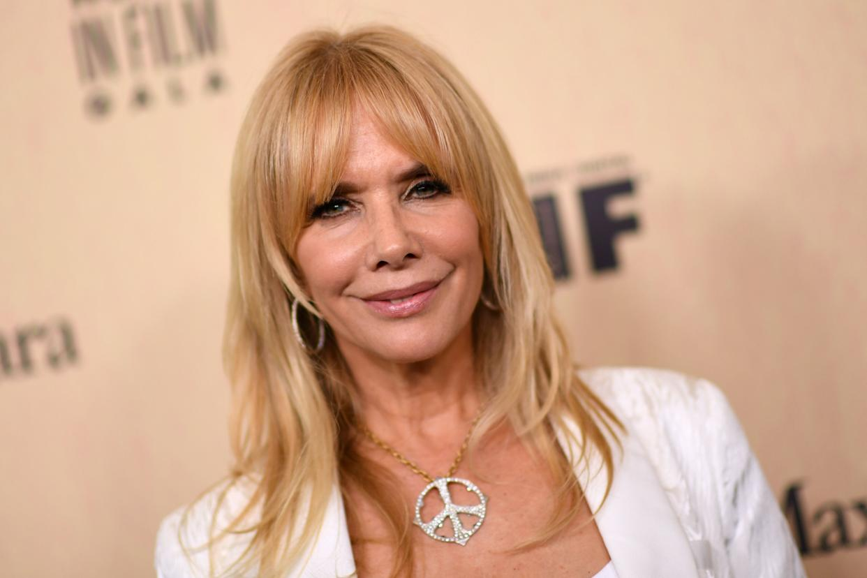 US actress Rosanna Arquette arrives for the 2019 Women in Film Annual Gala at the Beverly Hilton hotel in Beverly Hills, on June 12, 2019. (Photo by VALERIE MACON / AFP)        (Photo credit should read VALERIE MACON/AFP/Getty Images)