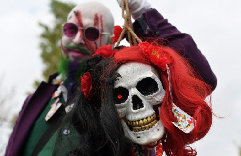 Revellers at the Lucca Comics and Games convention in Lucca, Tuscany, get into the Halloween spirit (AFP Photo/Tiziana FABI)