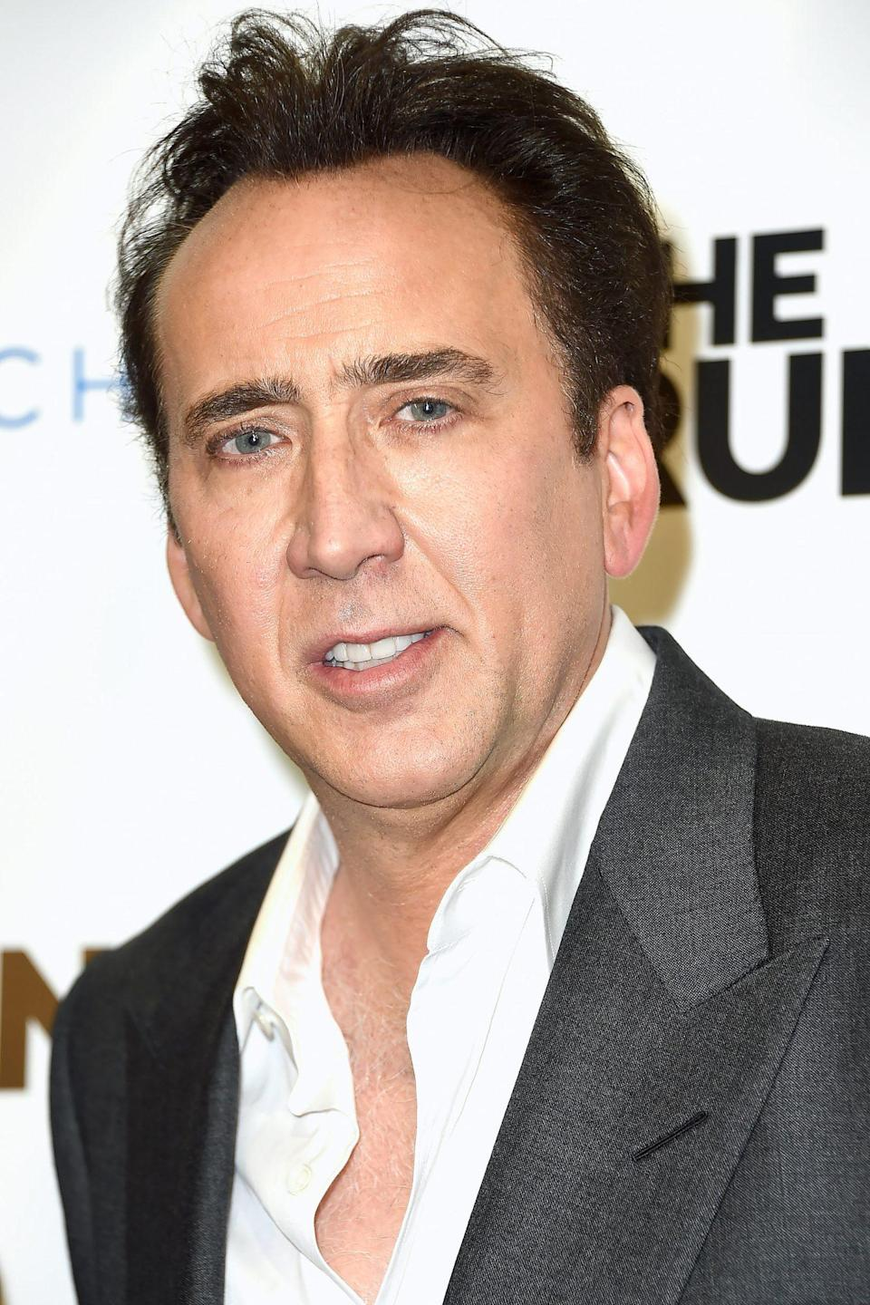 "<p><strong>Number of Marriages: </strong>4 </p> <p>Cage was married to Patricia Arquette from 1995 to 2001. He followed that up with a short-lived union with Lisa Marie Presley, whom he married in 2002. The pair filed for divorce just a few months later. He was then married to Alice Kim from 2004 to 2016.</p> <p>In 2019, he married Erike Koike, but requested a divorce just four days after their Las Vegas elopement. The <a href=""https://people.com/movies/nicolas-cage-pretty-upset-over-recent-divorce-from-4-day-bride/"" rel=""nofollow noopener"" target=""_blank"" data-ylk=""slk:marriage was annulled two months later"" class=""link rapid-noclick-resp"">marriage was annulled two months later</a>. </p>"