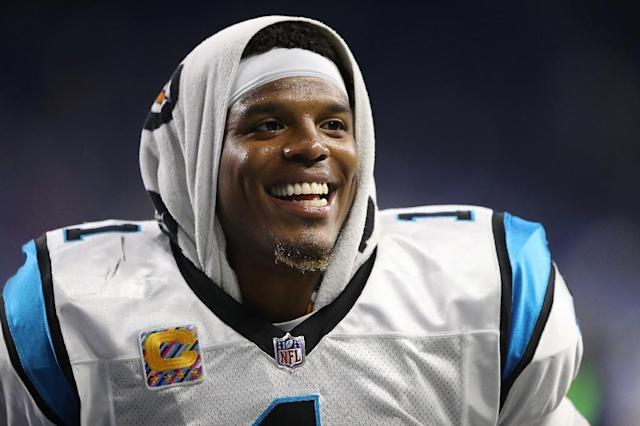 Cam Newton of the Carolina Panthers is trying to move past a sexist remark he made to a woman reporter, for which he later apologized (AFP Photo/Leon Halip)