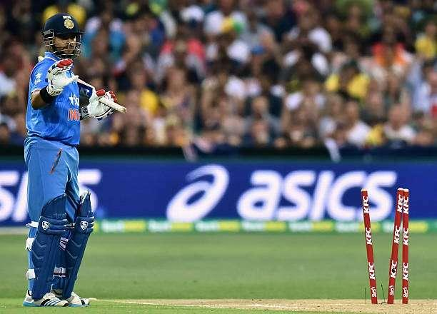 ADELAIDE, AUSTRALIA - JANUARY 26: Suresh Raina of India reacts during game one of the Twenty20 International match between Australia and India at Adelaide Oval on January 26, 2016 in Adelaide, Australia. (Photo by Daniel Kalisz/Getty Images)