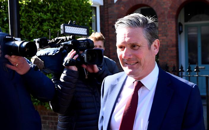 Sir Keir Starmer leaves his home after local elections - Reuters