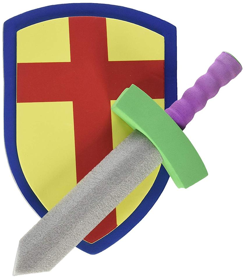 "<p>Medieval knights, this one's for you! This <a href=""https://www.popsugar.com/buy/Super-Z-Children-Foam-Toy-Medieval-Joust-Sword-amp-Shield-Set-492019?p_name=Super%20Z%20Children%27s%20Foam%20Toy%20Medieval%20Joust%20Sword%20%26amp%3B%20Shield%20Set&retailer=amazon.com&pid=492019&price=9&evar1=moms%3Aus&evar9=46607409&evar98=https%3A%2F%2Fwww.popsugar.com%2Fphoto-gallery%2F46607409%2Fimage%2F46610168%2FSuper-Z-Children-Foam-Toy-Medieval-Joust-Sword-Shield-Set&list1=halloween%2Challoween%20costumes%2Ckid%20shopping%2Challoween%20for%20kids%2Ckid%20halloween%20costumes%2Challoween%20costumes%202019&prop13=api&pdata=1"" rel=""nofollow"" data-shoppable-link=""1"" target=""_blank"" class=""ga-track"" data-ga-category=""Related"" data-ga-label=""https://www.amazon.com/Super-Outlet-Childrens-Lightweight-Activities/dp/B018F4O008/"" data-ga-action=""In-Line Links"">Super Z Children's Foam Toy Medieval Joust Sword &amp; Shield Set</a> ($9) gives any kid what they need to rock their knight costume.</p>"