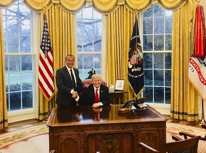 "Ahmad ""Andy"" Khawaja with President Trump"