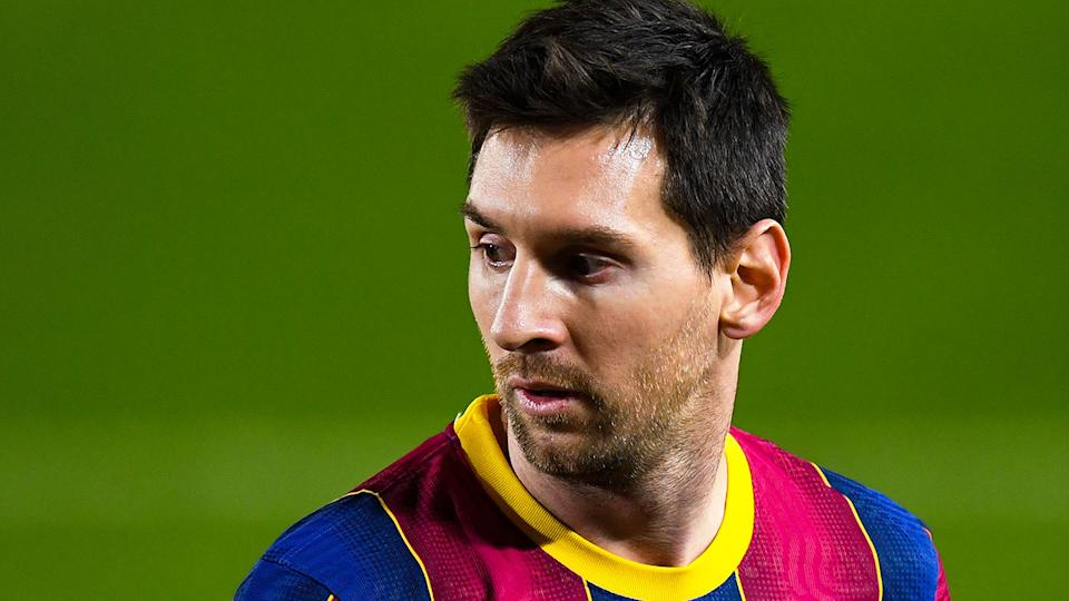 Lionel Messi is pictured here during a La Liga match for Barcelona.