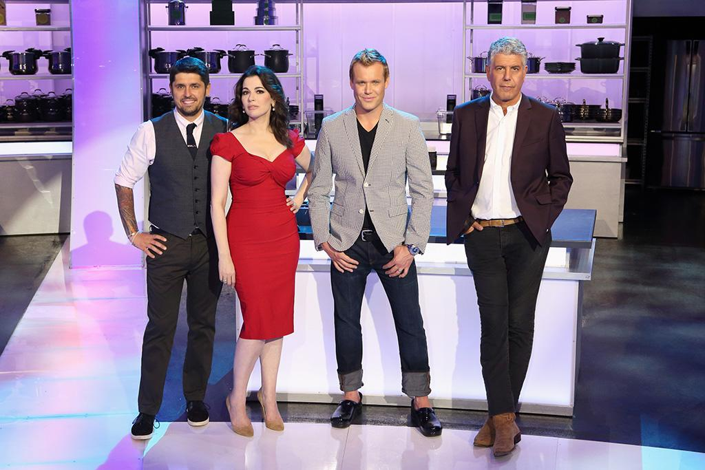 "ABC's ""The Taste"" features expert chef/author Ludo Lefebvre, British food star Nigella Lawson, restaurateur Brian Malarkey and no-holds barred chef Anthony Bourdain."