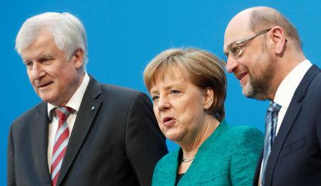 Coalition talks of CDU  CSU and SPD in Berlin