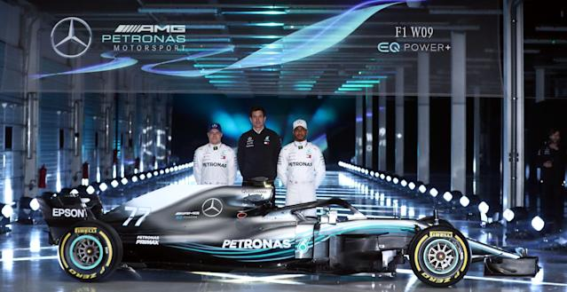 The Silver Arrows have dominated the new campaign with an unprecedented five one-two finishes (Tim Goode/PA)