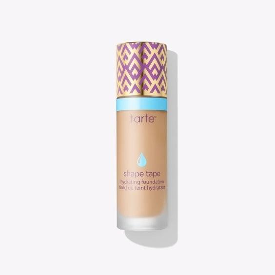 "If you're into a more dewy look but still want enough coverage, go for Tarte's Shape Tape Hydrating Foundation. $39, Tarte. <a href=""https://tartecosmetics.com/en_US/sale/shape-tape-hydrating-foundation/1214.html?cgid=sale&dwvar_1214_color=medium-tan%20honey"">Get it now!</a>"