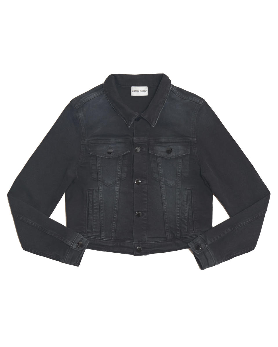 "<p><span>A favourite brand of the like of Gigi Hadid and Kaia Gerber, Citizien Cotton's cool-girl denim jackets are a good choice so when that evening chill sets in. </span><br><em><a href=""https://cottoncitizen.com/collections/denim-jackets/products/crop-denim-jacket-washed-black"" rel=""nofollow noopener"" target=""_blank"" data-ylk=""slk:Buy here."" class=""link rapid-noclick-resp""><span>Buy here.</span></a></em> </p>"