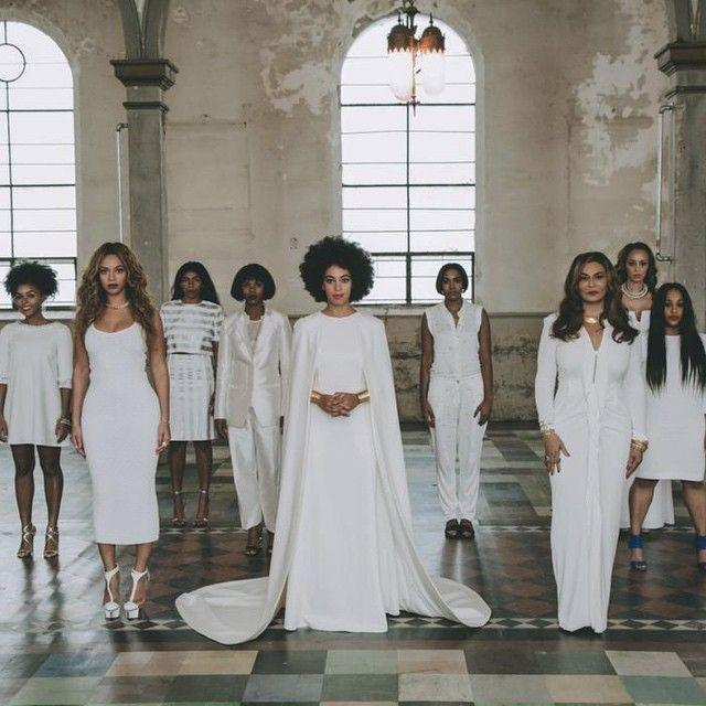 """<p>Easily one of our favourite celebrity weddings, Beyonce stood up next to sister Solange for the all-white nuptials. <i>(Instagram/<a rel=""""nofollow noopener"""" href=""""https://www.instagram.com/beyonce/"""" target=""""_blank"""" data-ylk=""""slk:beyonce"""" class=""""link rapid-noclick-resp"""">beyonce</a>)</i></p><p><i><br></i></p>"""