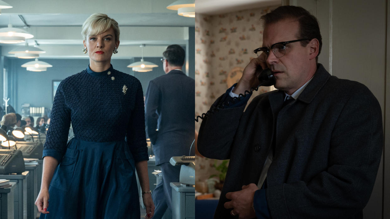 Frankie Shaw and David Harbour have an unusual bond in 'No Sudden Move'. (Warner Bros)