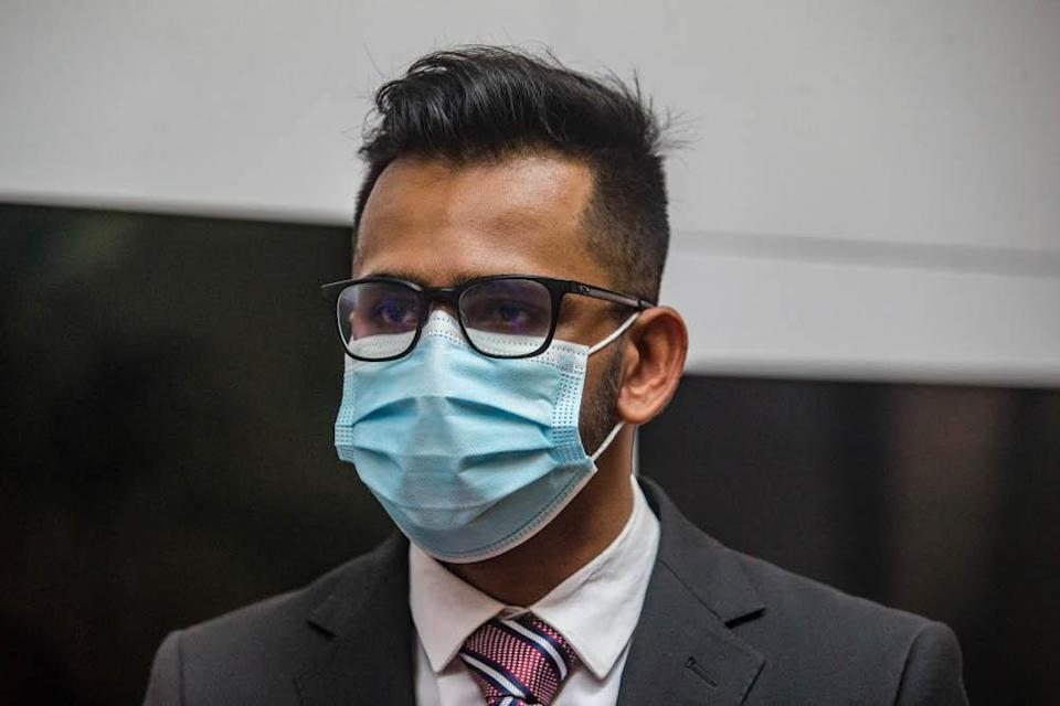 Lawyer Joshua Monghana Sundaram, 24, says sexual harassment in the legal profession remains a pressing issue despite the Malaysian Bar's mechanism to address the problem in 2007, December 16, 2020. — Picture by Firdaus Latif