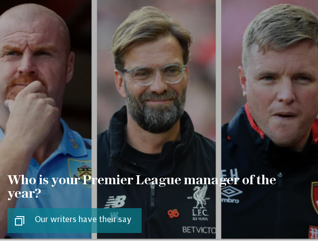 Who is your Premier League manager of the year? Our writers have their say