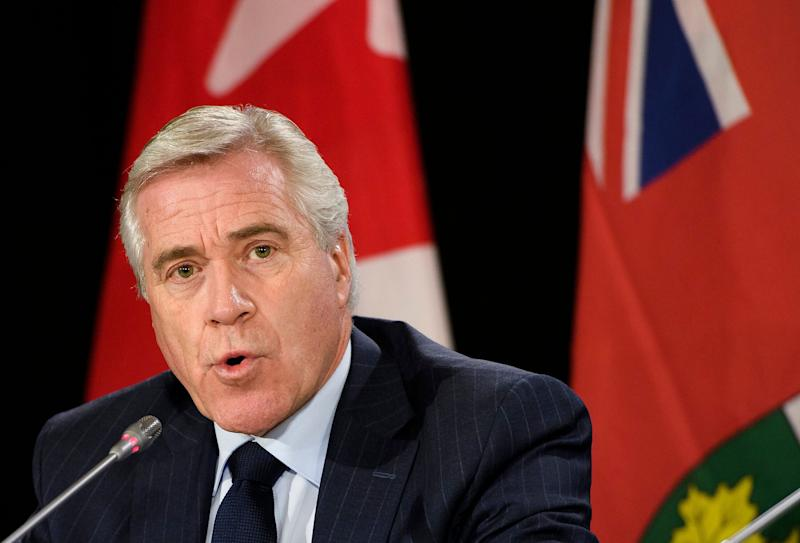 Premier of Newfoundland and Labrador Dwight Ball speaks to reporters in Mississauga, Ont. on Dec. 2, 2019. (Photo: Nathan Denette/Canadian Press)